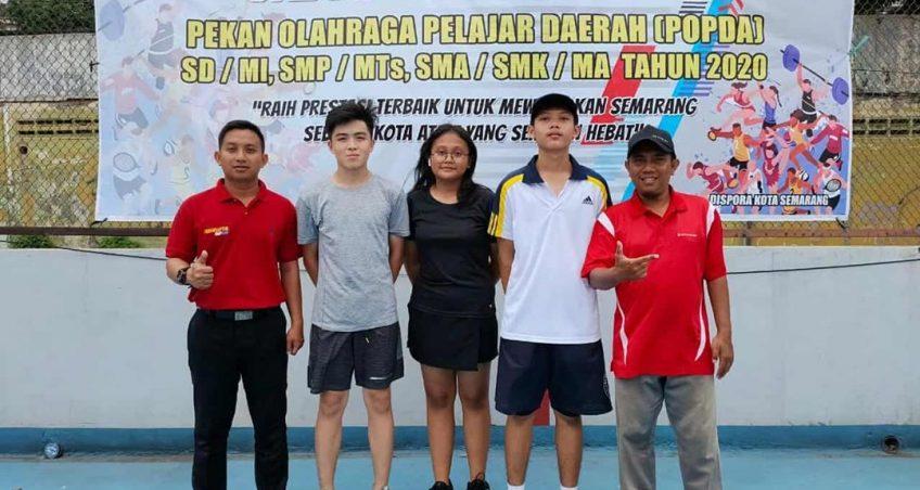 JUARA II POPDA tingkat SMA cabang olahraga tenis lapangan