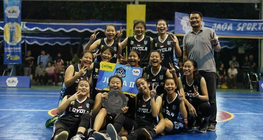 Basket Putri SMA Kolese Loyola meraih JUARA II ATMI CUP 2020