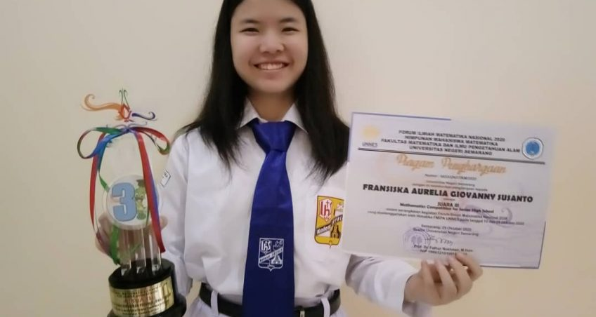 Juara 3 pada Mathematics Competition for Senior High School FIMNAS UNNES 2020